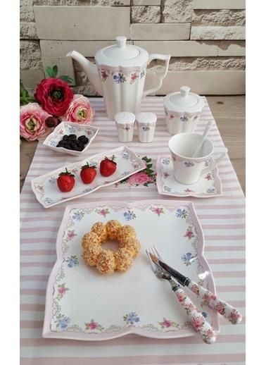 Karaca 34 Parça Pınk Garden Kahvaltı Takımı Renkli